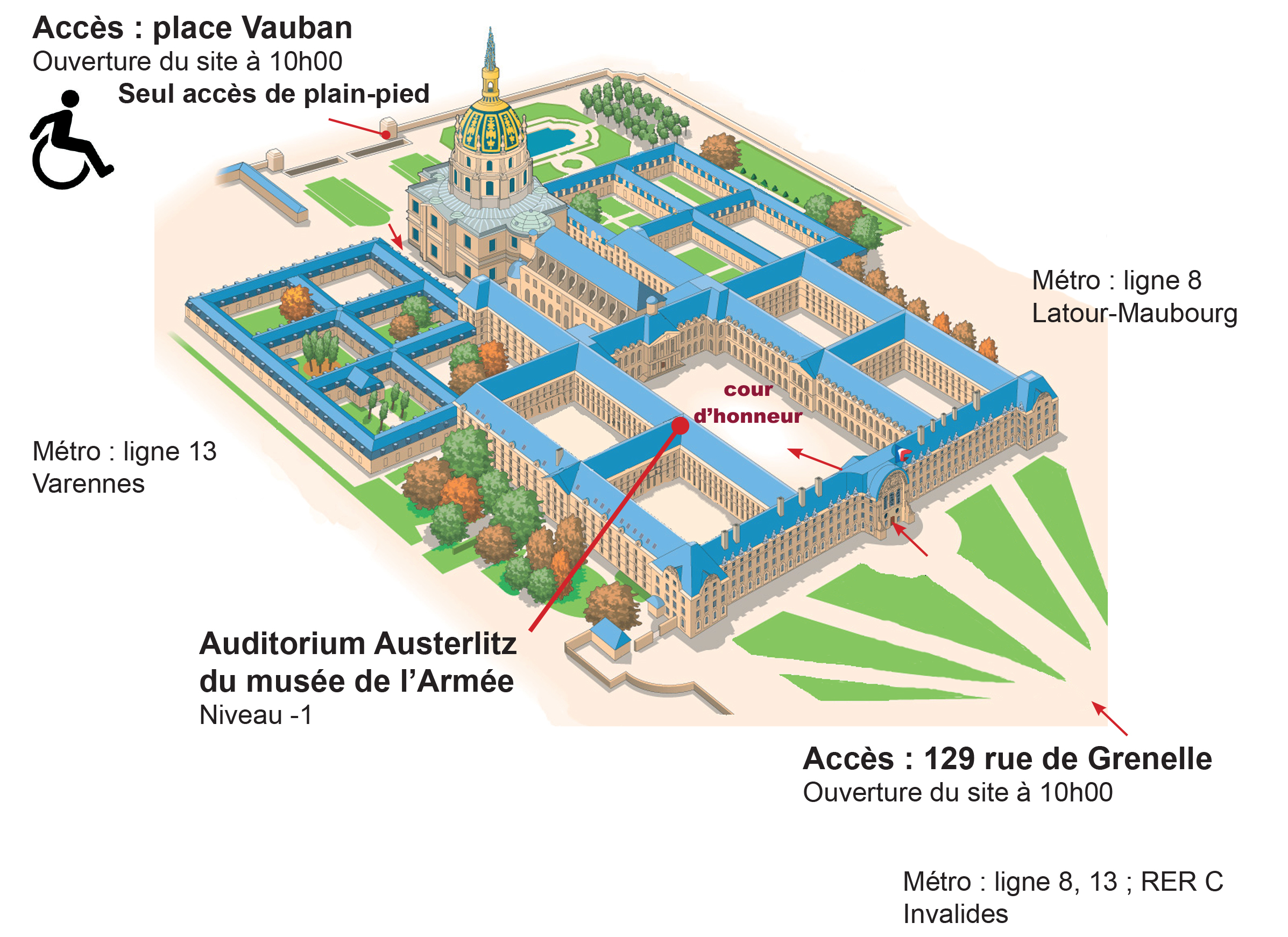 plan acces auditorium austerlitz